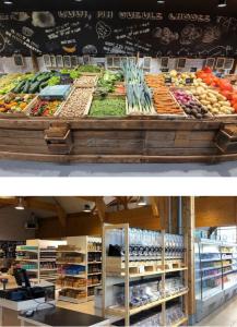 Rayons fruits et légumes et vrac